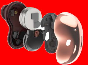 Layout of Galaxy Buds Live